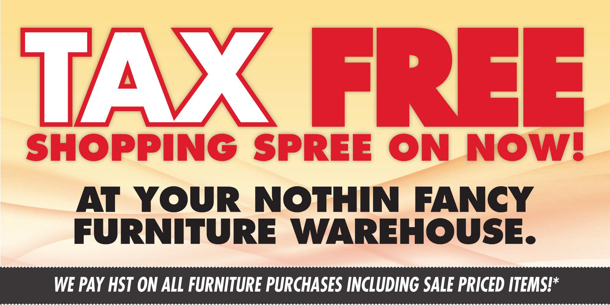 Nothin' Fancy's Tax Free Shopping Spree