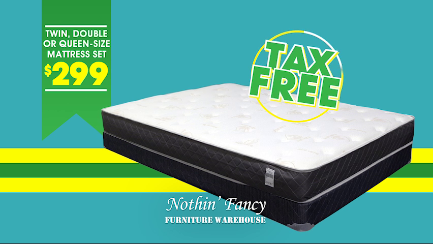 Nothin' Fancy Furniture Warehouse's Tax Free Shopping Spree